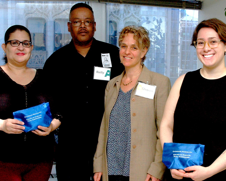 Diana Ayala, NYC Councilwoman - Reilly Glasgow, Alliance LES Harm Reduction Center Staff Member - Sharen Duke, Executive Director/CEO - Dana Kurzer-Yashin, Alliance LES Harm Reduction Center Staff