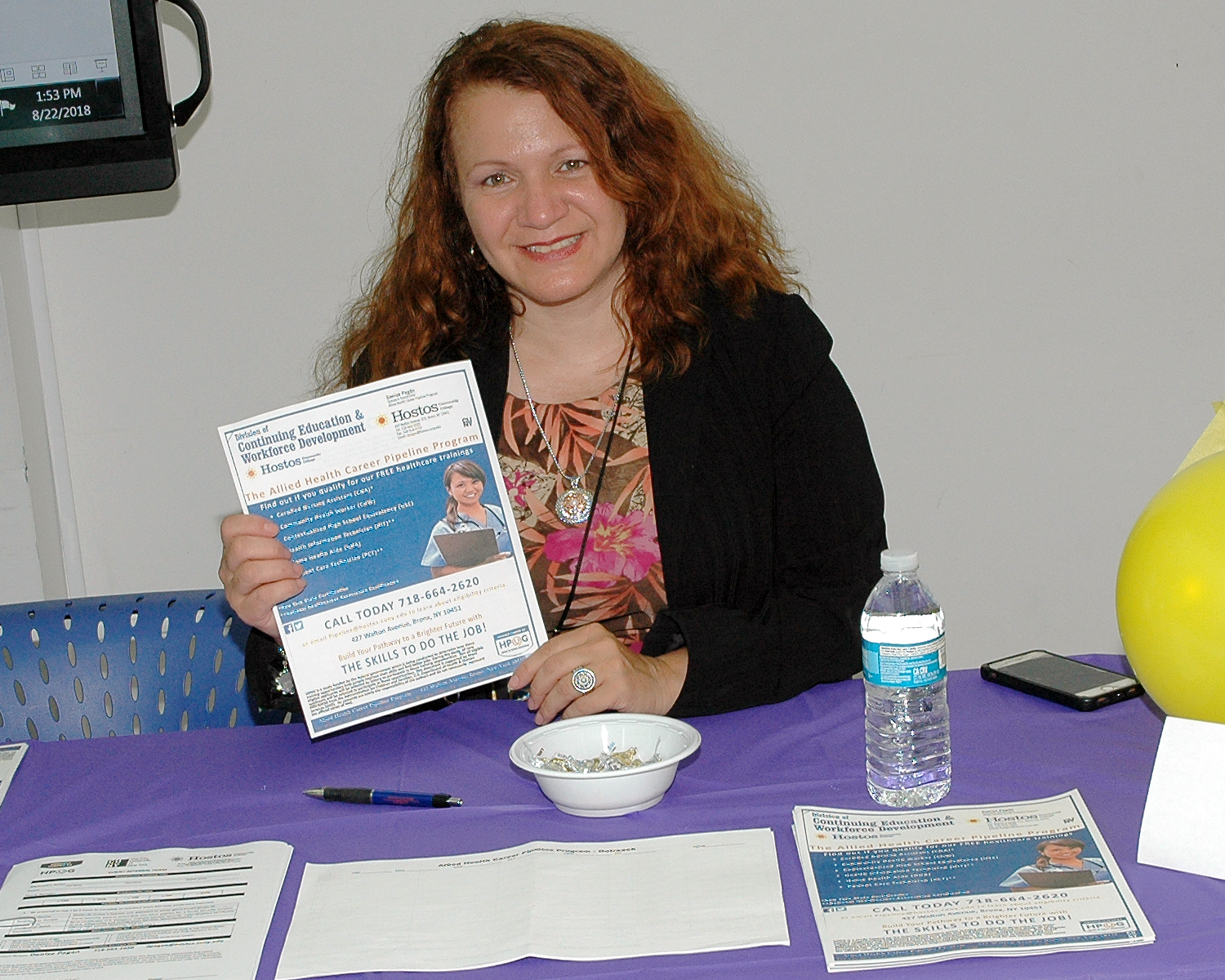 One of the job fair interviewers