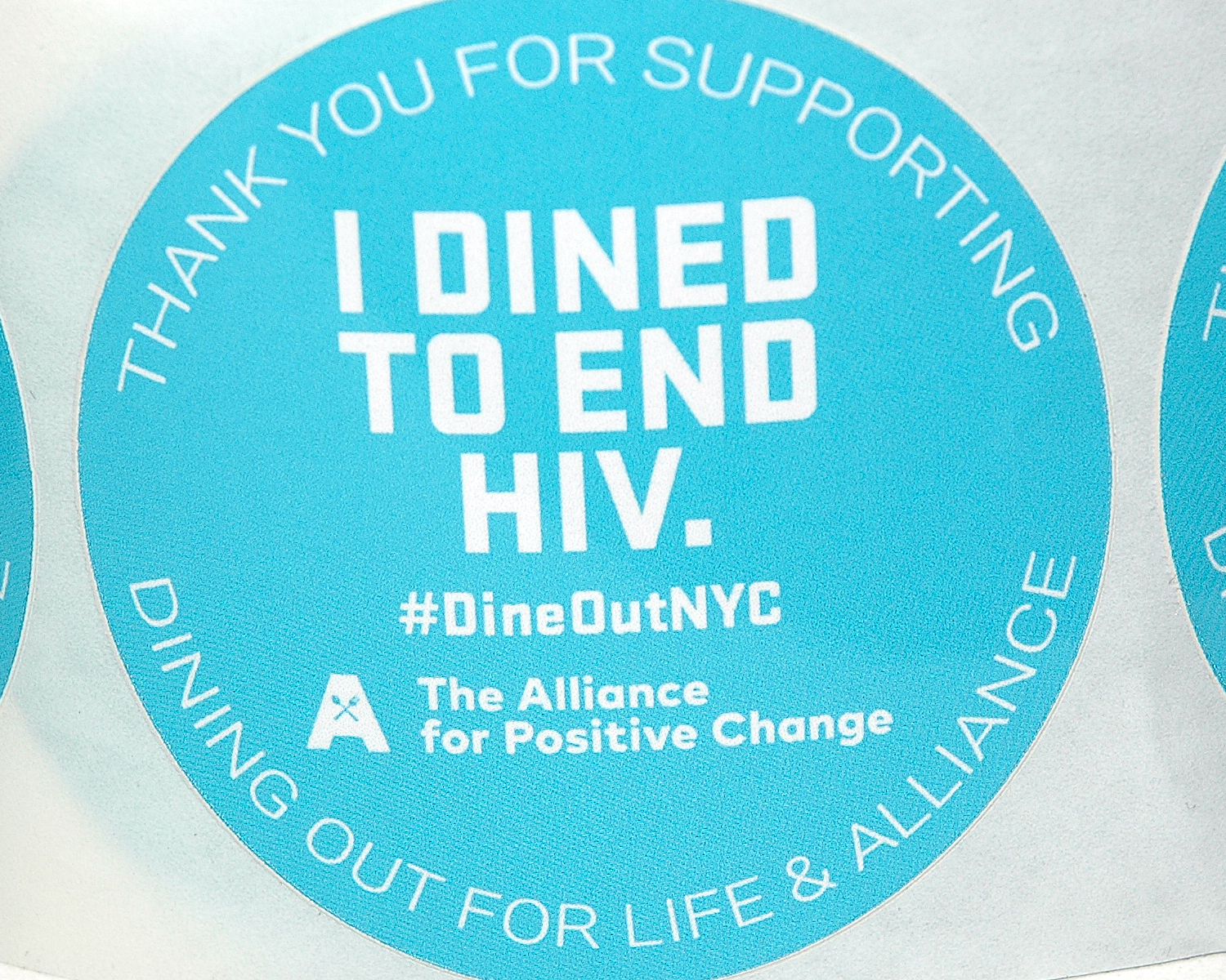 Thank You For Supporting Dining Out For Life and Alliance