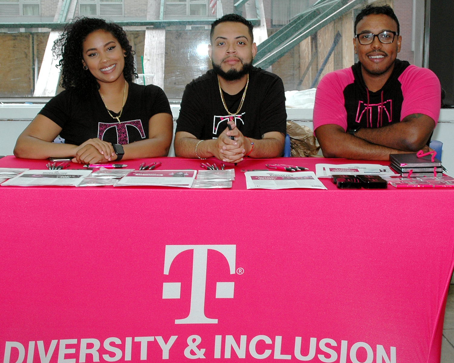 Three interviewers from T-Mobile