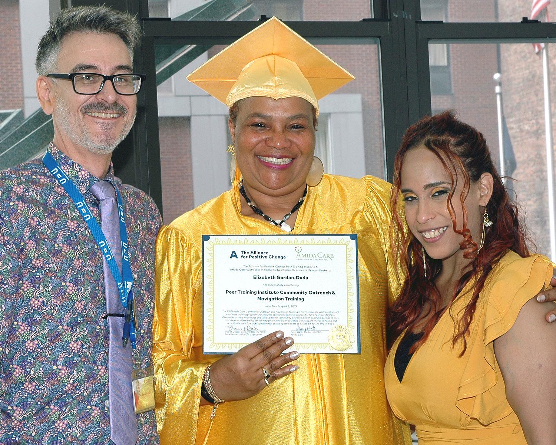 Elizabeth getting her certificate