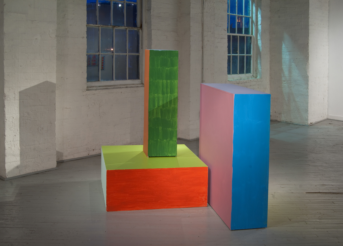 We Have To Go Back to the Island (#2) , 2011 Latex, acrylic, and enamel on gallery pedestals imensions Variable
