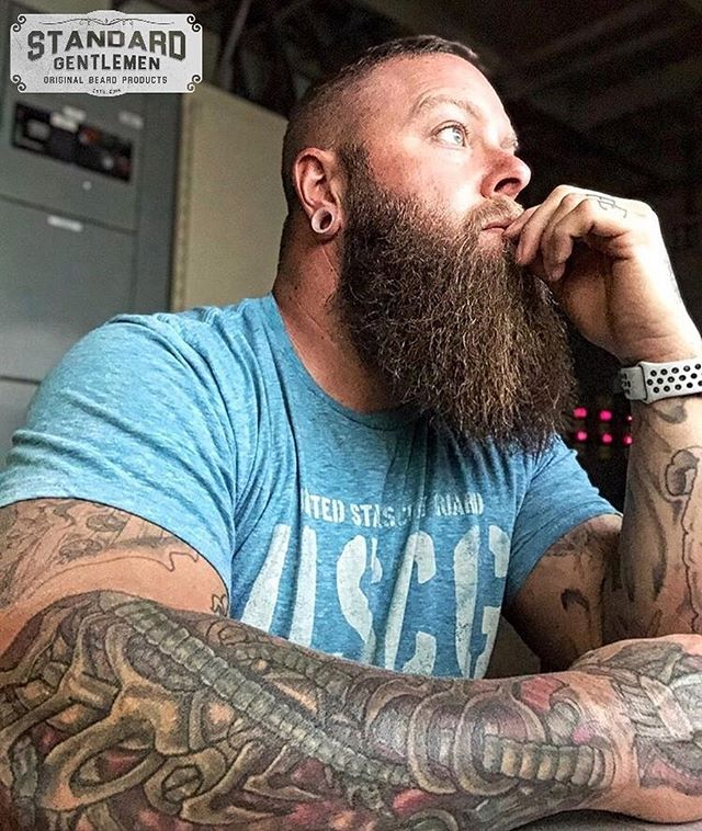 """Patience is power. Patience is not an absence of action, rather it is """"timing"""". It waits on the right time to act, for the right principles and in the right way.  @tatted.bearded  Standard Gentlemen is here to help men grow and maintain their beards and lives.  Join the movement. Get yours today at StandardGentlemen.com Link in bio.  Premium Beard Oils, Butters, & Balms. Free Shipping Within The U.S. . . . #ThatBeardTho #Beard #Beards #Bearded #BeardOn #BeardLife #BeardedDad #BeardCare #BeardOil #BeardBalm #BeardButter #BeardedVillains #BeardsOfInstagram #InstaBeard #Beardstagram #BeardNation #BeardedMen #BeardedGuys #BeardGame #BeardStyle #BeardedLifestyle #BeardLove #BeardLover #BeardLovers #BeardedForHerPleasure #SheWantsTheBeard #Pogonophile #BeardsAndTattoos #StayBearded"""
