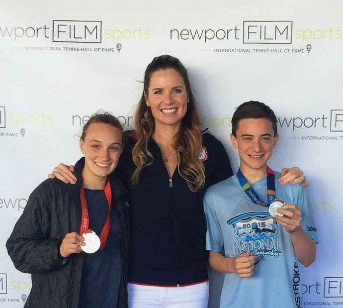 Newport Film Festival with fans of Touch The Wall