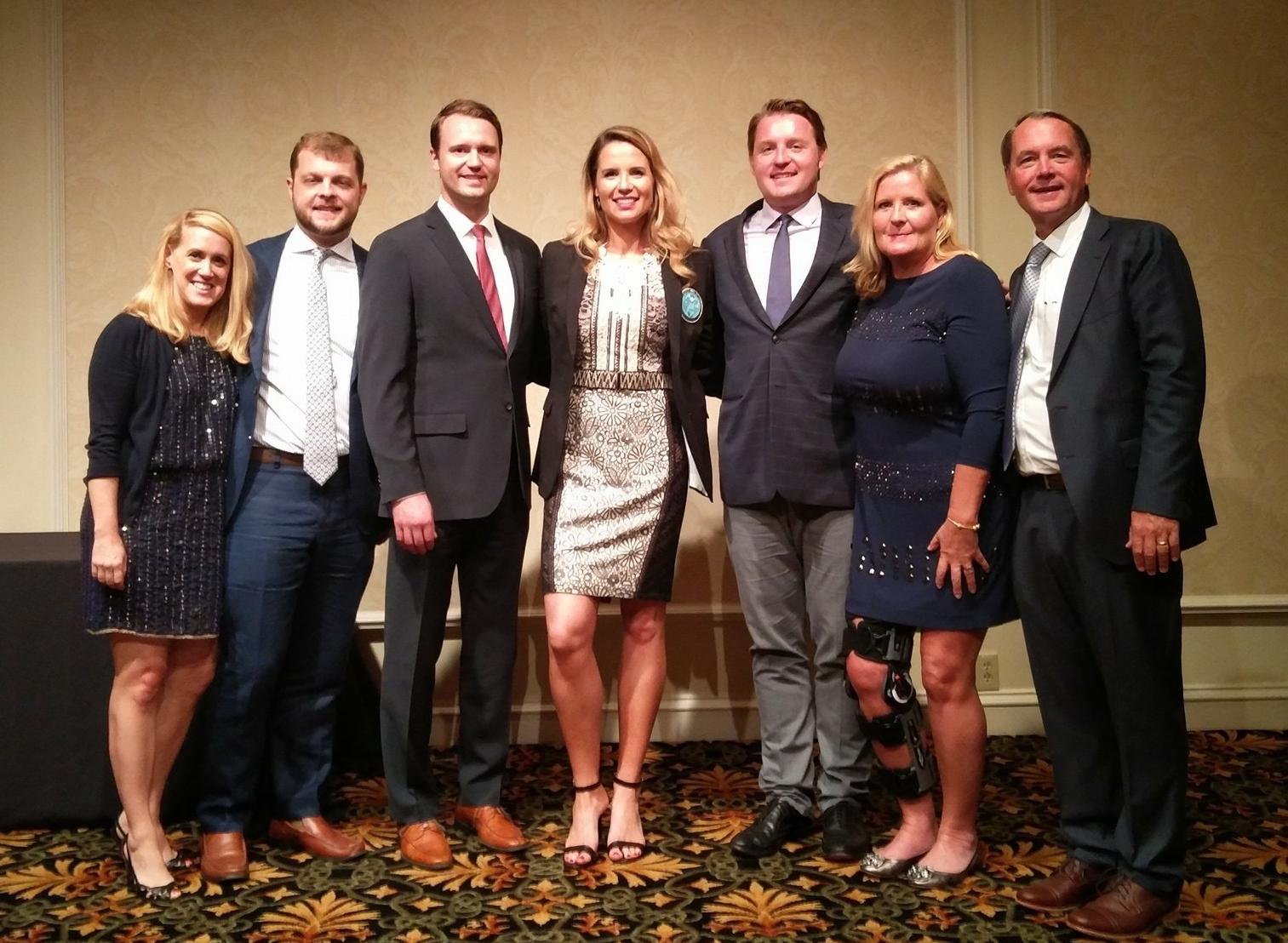 The Joyce Family at the Georgia Aquatics Hall of Fame dinner.