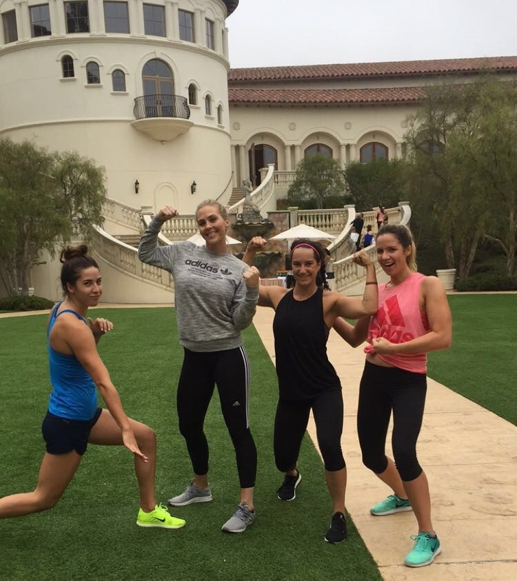 Completed a bootcamp workout with fellow Olympians Maya Dirado and Maggie Steffens at the espnW summit