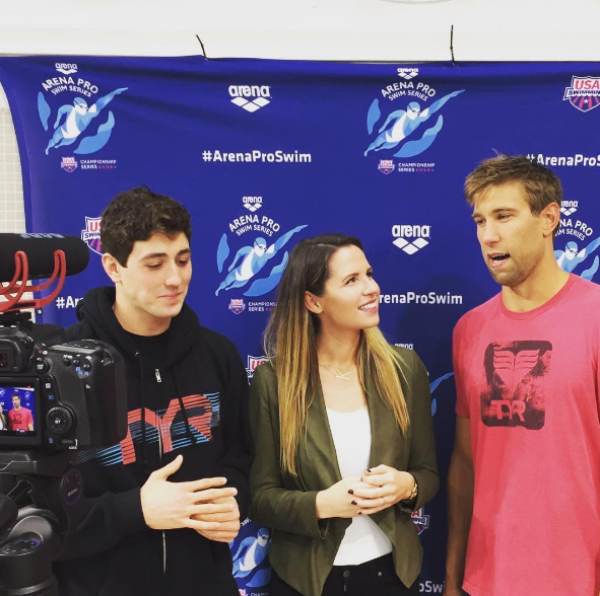 Interviewing Olympians Jacob Pebley and Matt Grevers in Austin, TX.