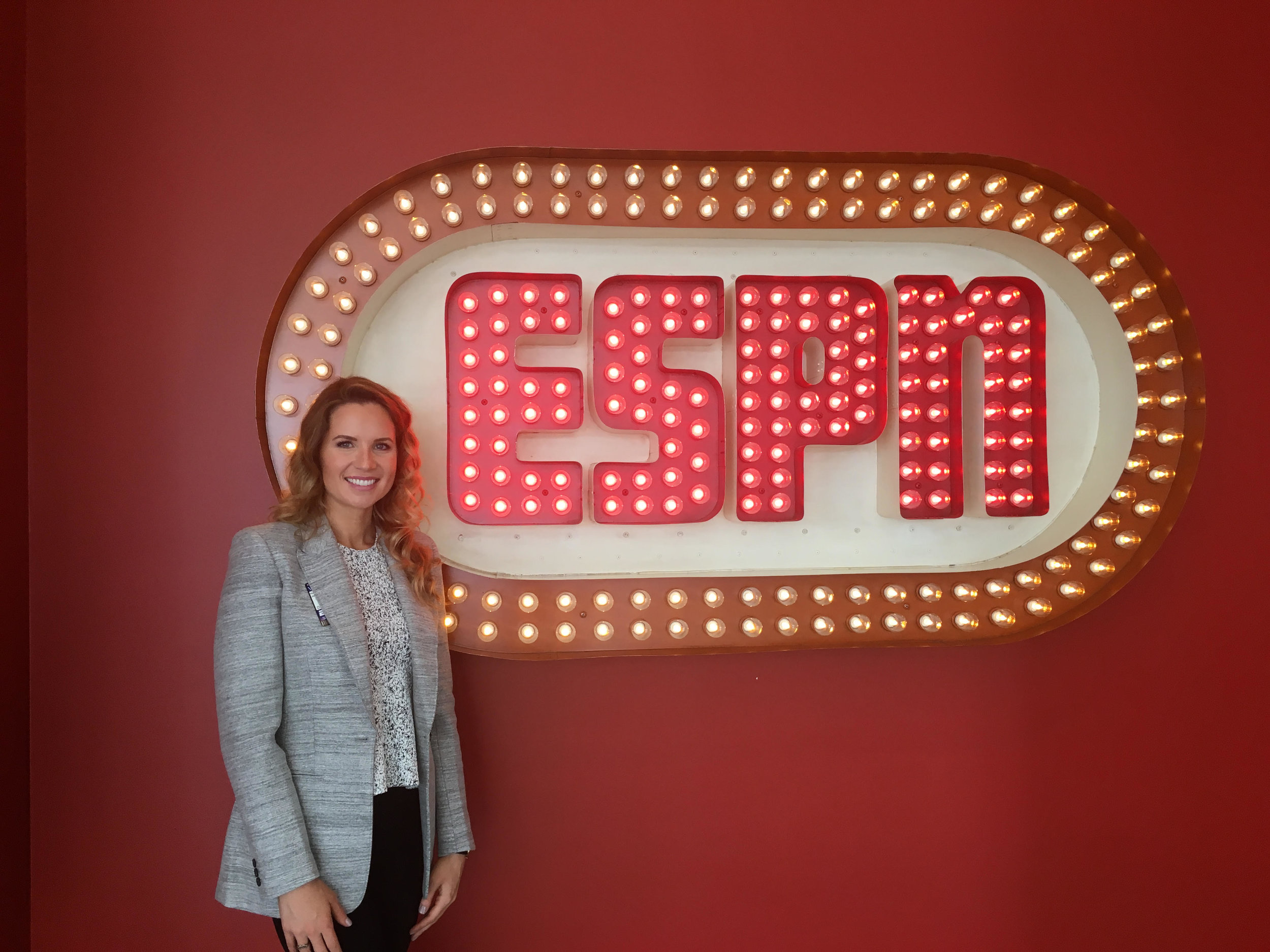 At ESPN HQ in Bristol, CT