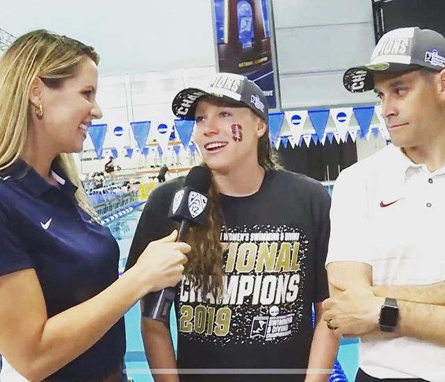 A big thank you to the beautiful women (& men) of the @pac12conference for letting me 🗣 their ears off at NCAA's in last week 🤓 #ncaaswimdive #pac12 #swimnerd