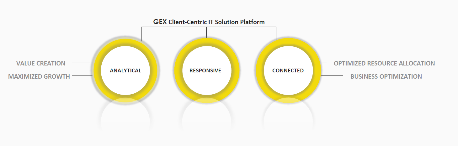 The GEX Management client-centric and analytical Systems Integration Framework (SIF) is highly responsive to the unique needs of each client while maximizing total shareholder return (TSR) on IT Implementation.  The SIF Framework delivers best-in-class Resource Capital Management, Consulting Know-how and Strategic Solution capabilities to its clients to achieve value creation via the GEX Process Excellence Ecosystem.