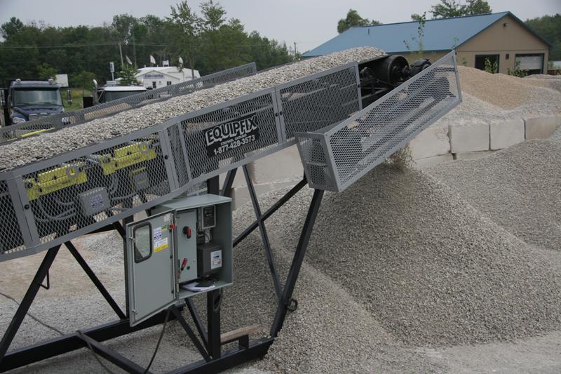 Belt-Way Scale on Portable Conveyor