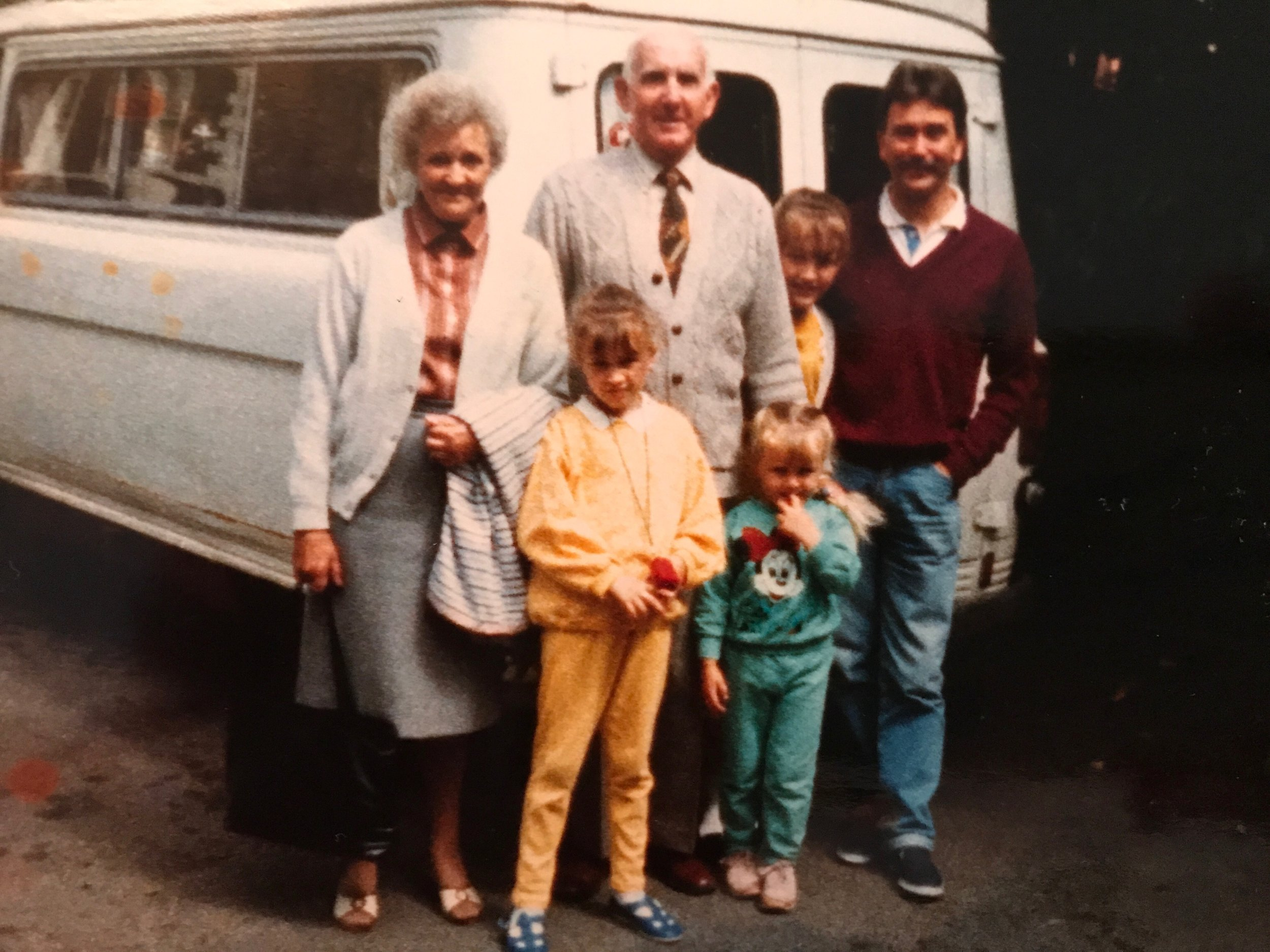 The long suffering parents and one of the vehicles that enjoyed breaking down!