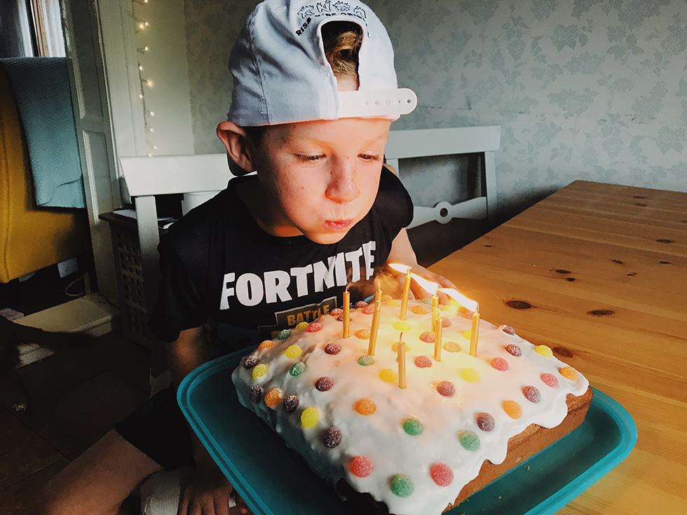 Yes we had three birthday celebrations within weeks of each other and yes, Will spent his holiday money on Fortnite merch.