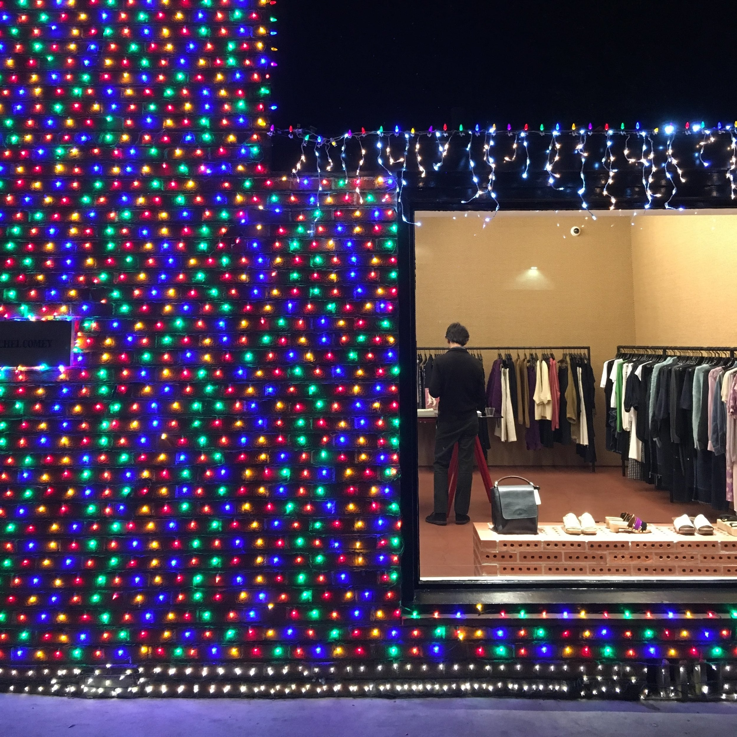 Holiday Display for Rachel Comey, Melrose Pl