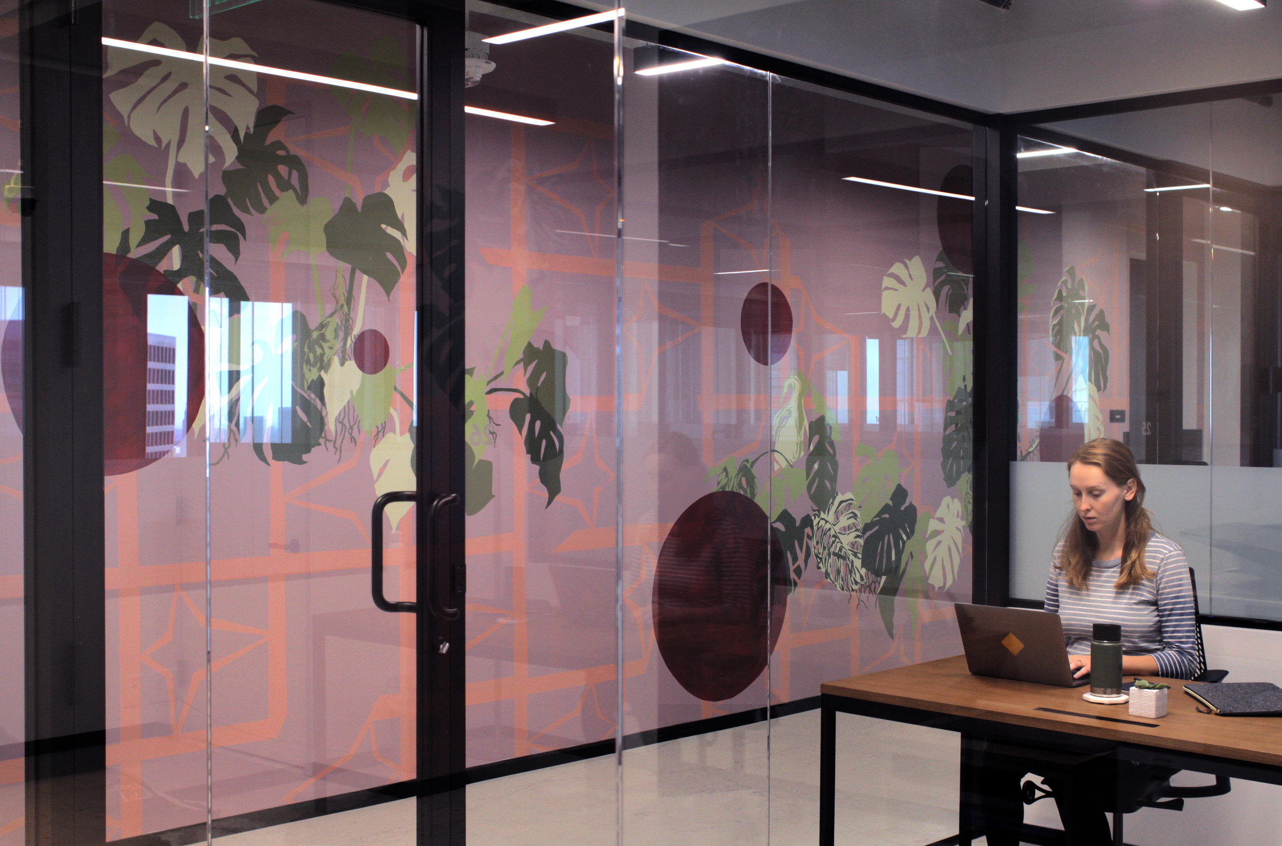 Mural for the Industrious' latest office in Century City