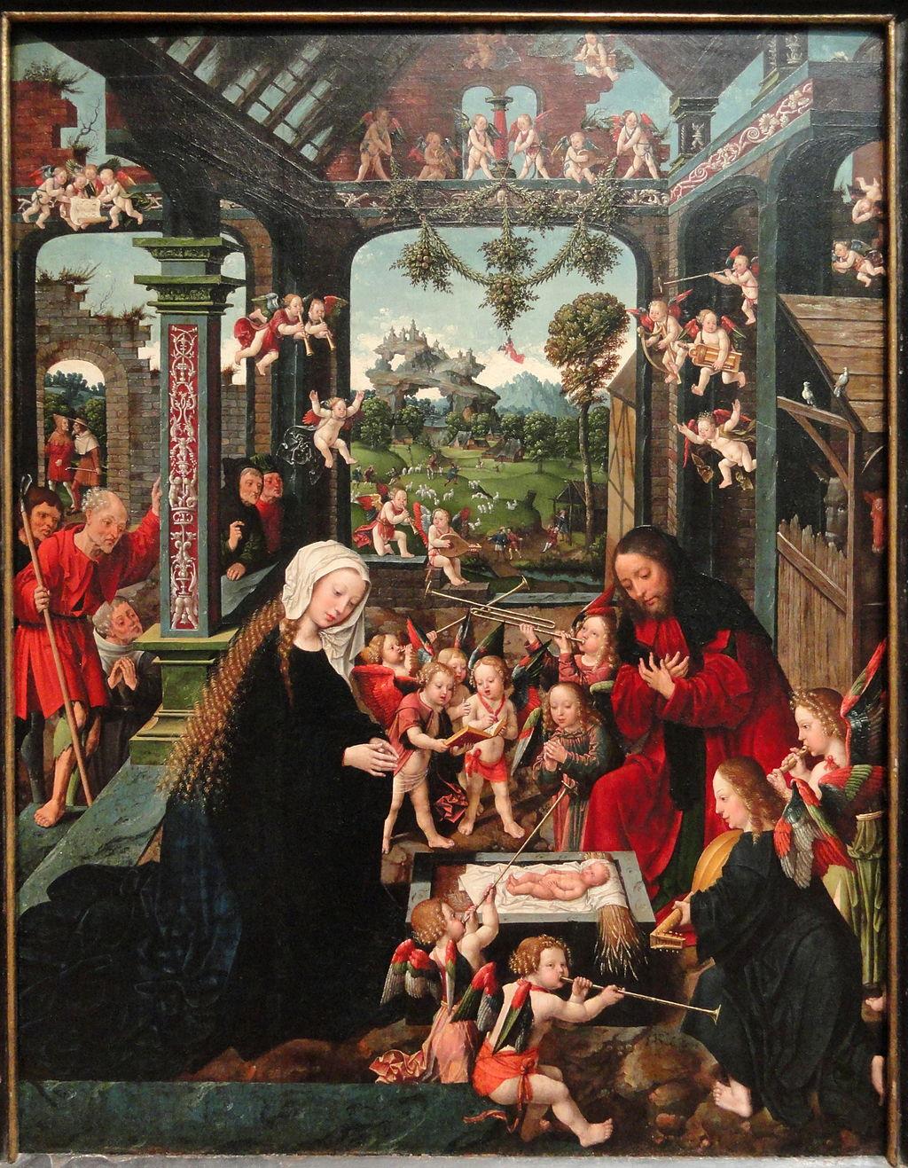 The Adoration of the Christ Child      - Jacob Cornelisz van Oostsanen