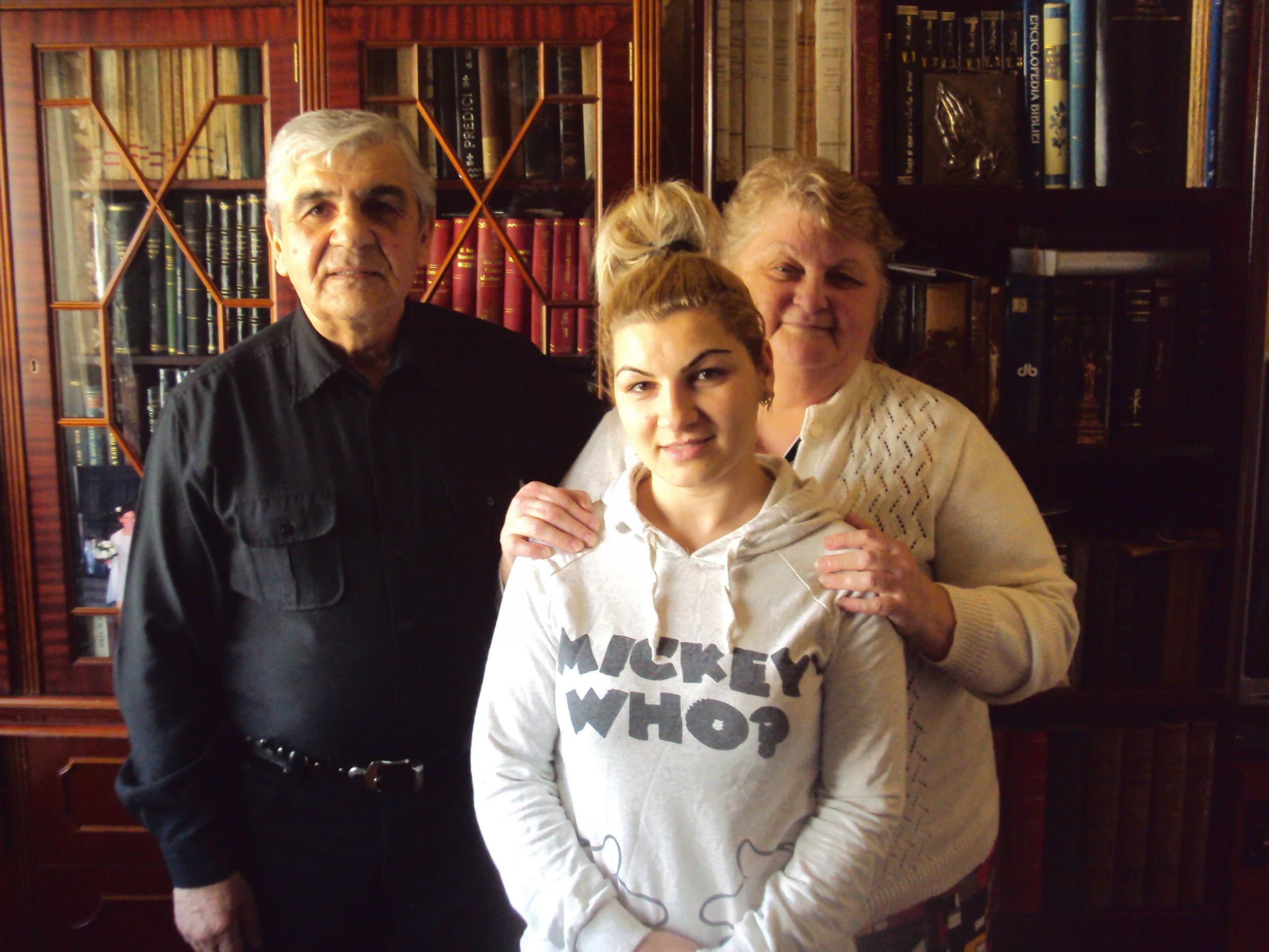 Pastor Ilie Nadaban, his wife Ghizela and their daughter