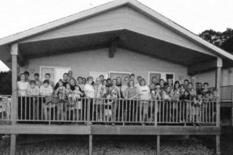 A portion of Mom's family including in-laws and grandchildren