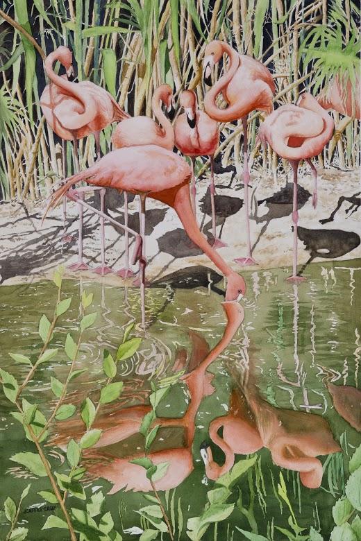 "Williams Award (watercolor) Julie Caffeé-Cruz - ""Beauty in Balance"""