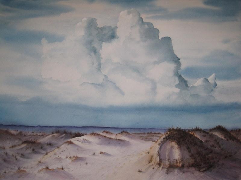 "Blumenthal Award (watercolor)--Wanda Richardson – ""Sand Sea & Skies"""