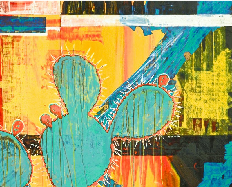 "Kistenmacher Award  (abstract) AND El Paso Scene Cover Award-- Ricardo Ordonez -- ""Nopales"""