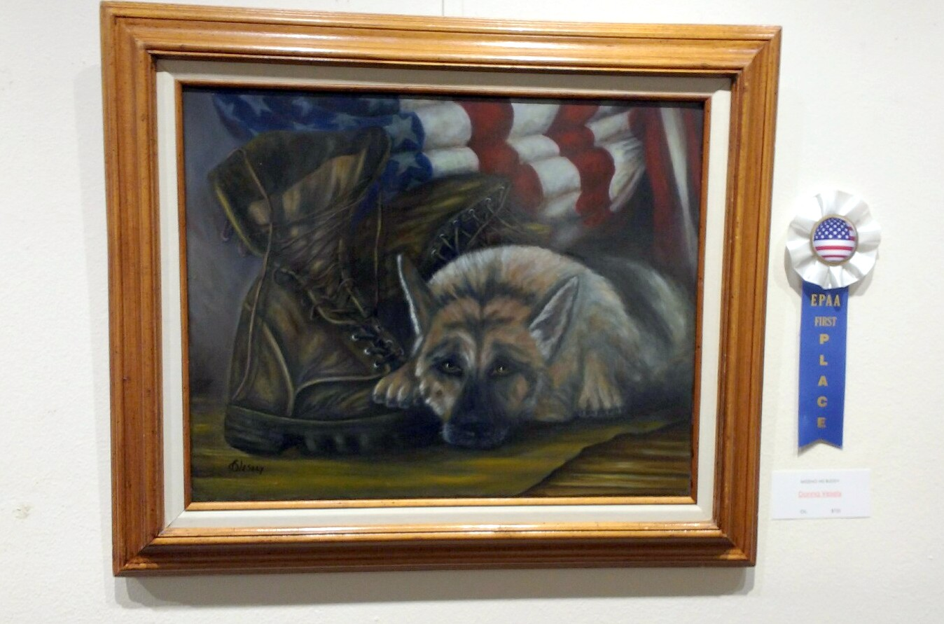 Missing His Buddy by Donna Vesely. First place