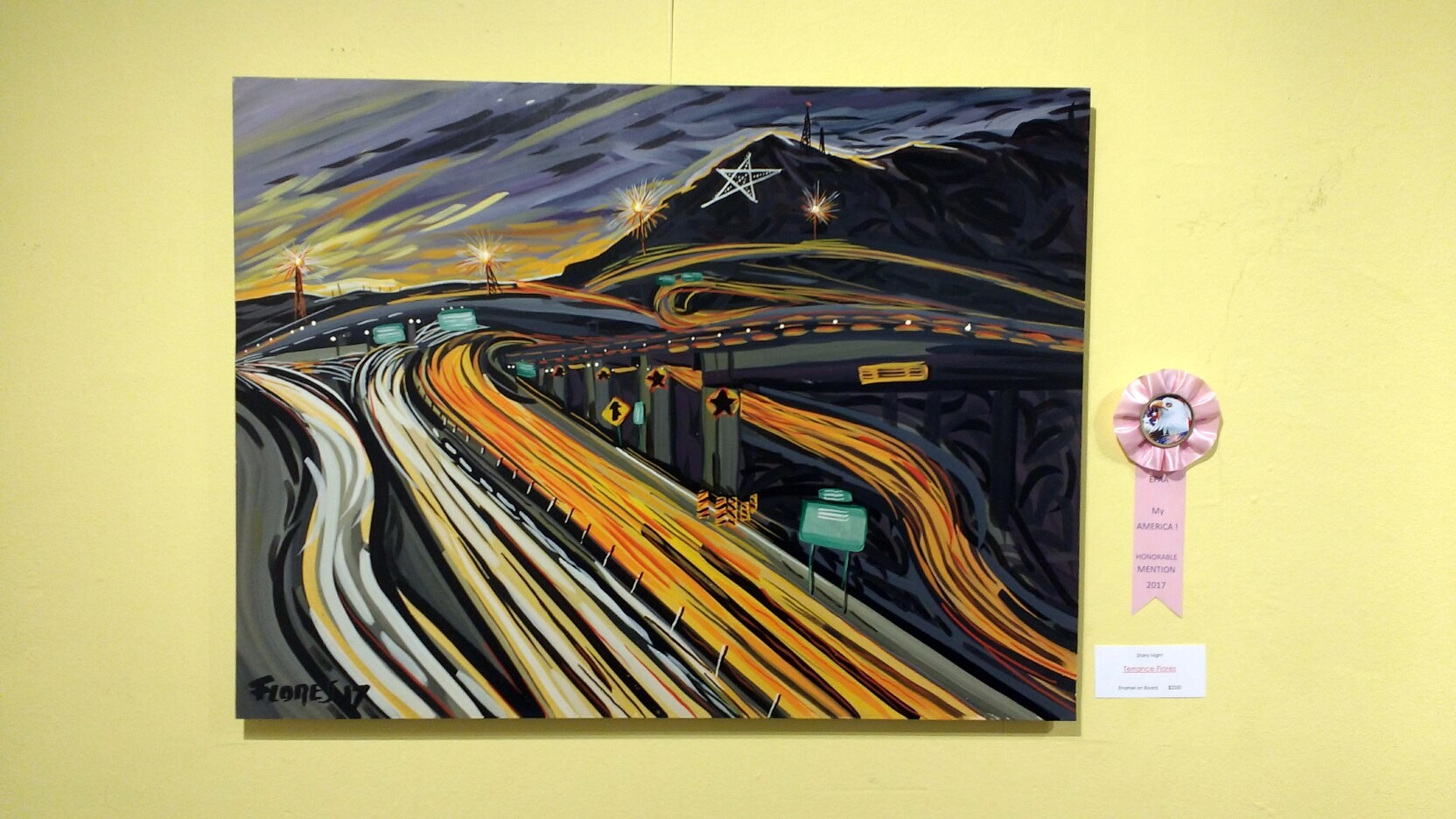 Starry Night by Terrance Flores. Honorable mention