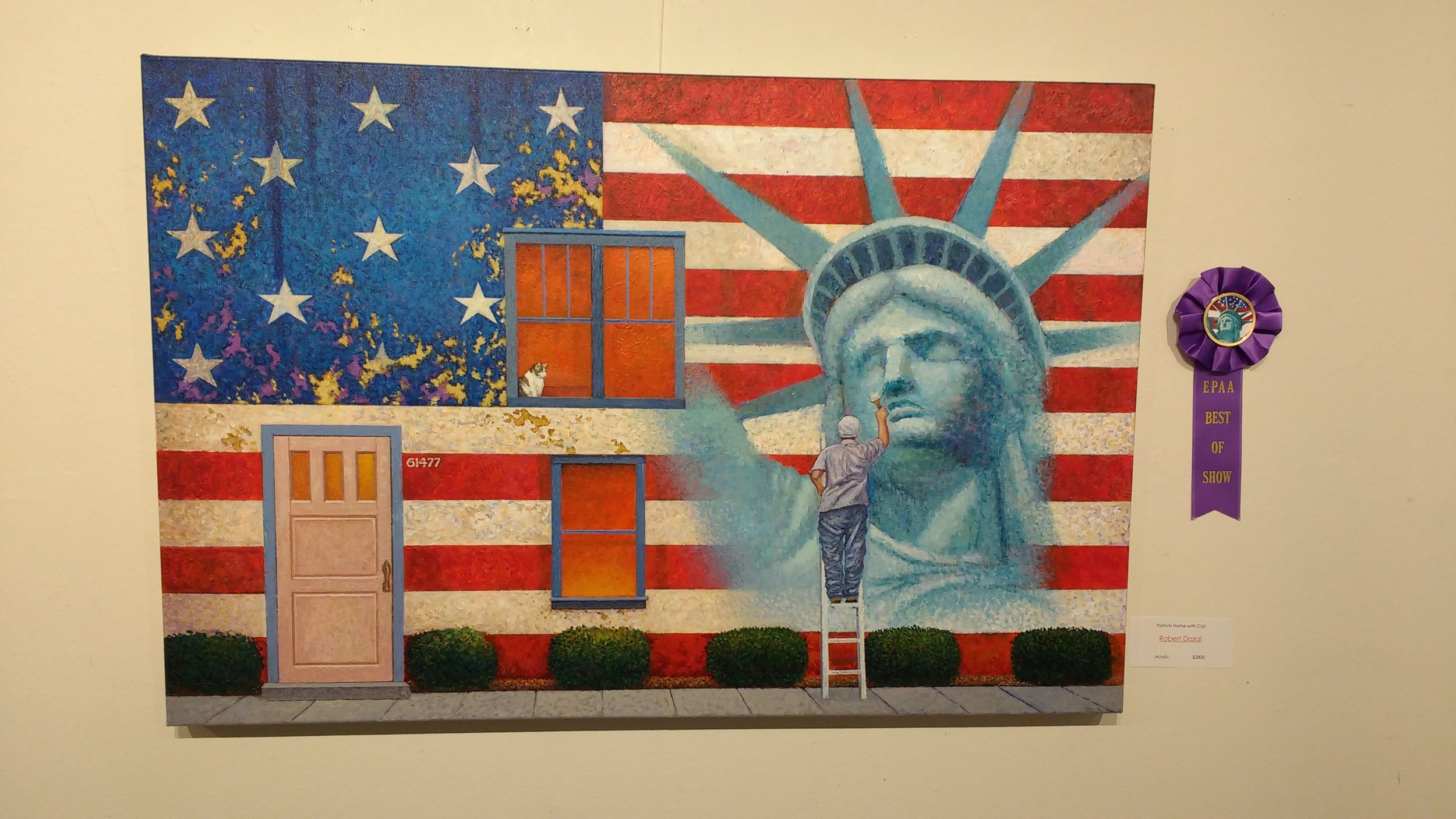 Patriot's Home with Cat by Robert Dozal.  Best of Show