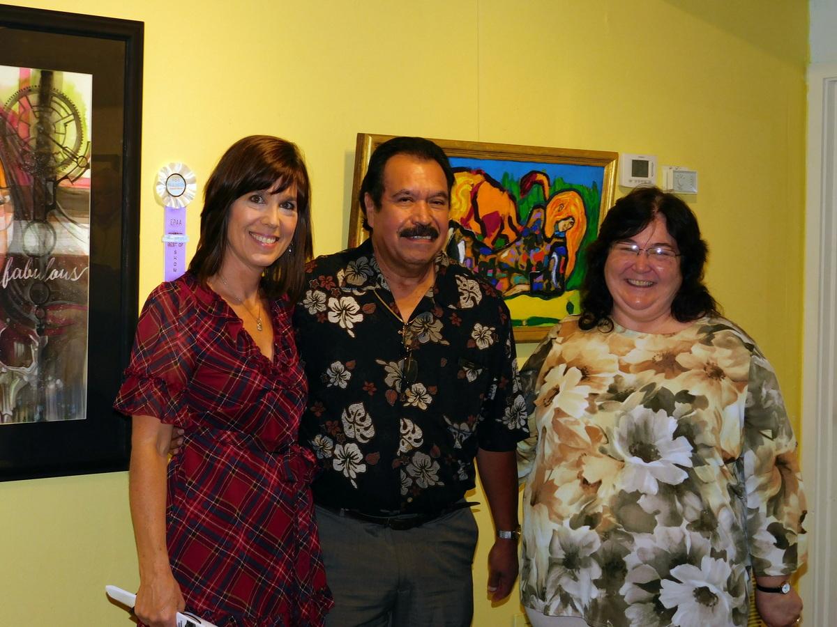 Cesar Barraza with Karla Zanelli and Dorian Clouser