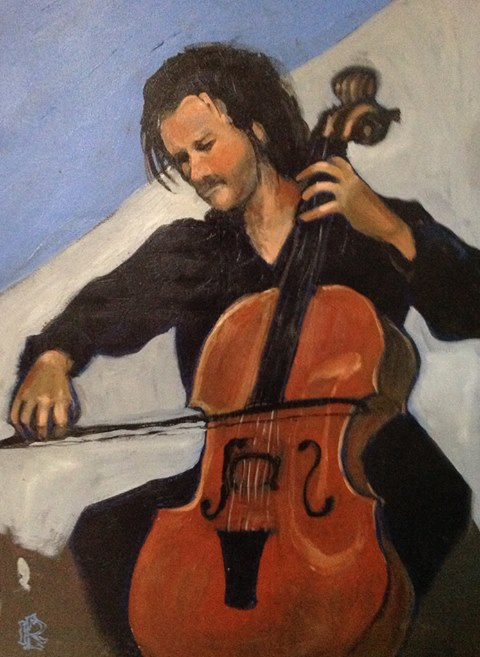 Cellist by Lois Bourgon