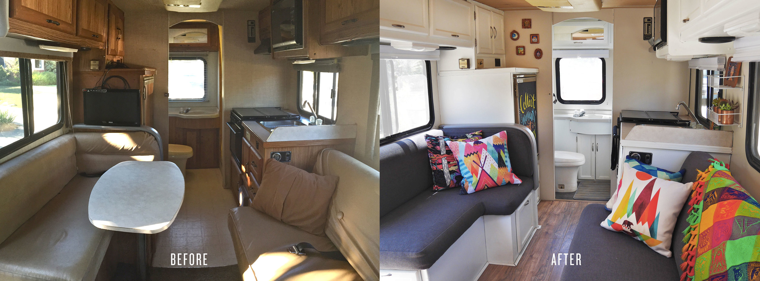 Check out  OUR RV  for the story of how we picked out our home on wheels,and step-by-step details of the entire renovation process.