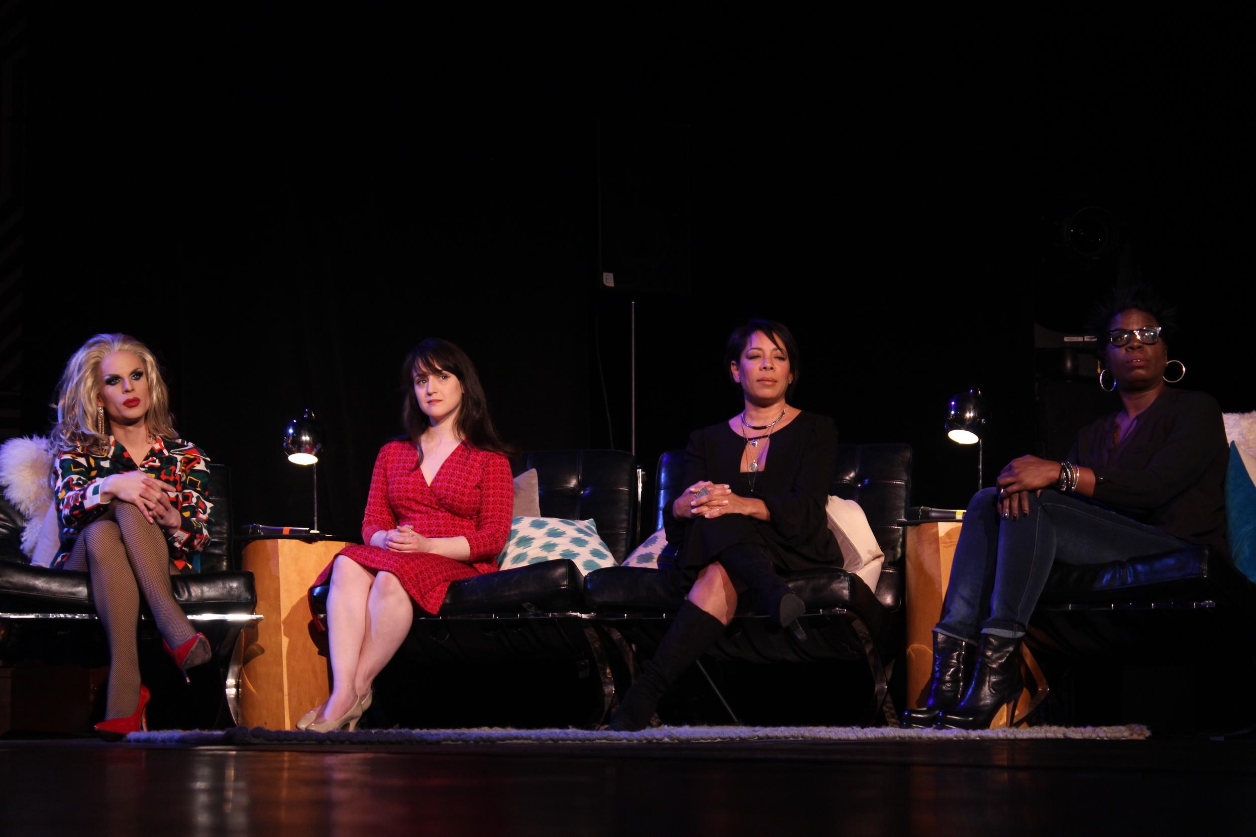 Celebrity judges Katya, Mara, Selenis, and Leslie