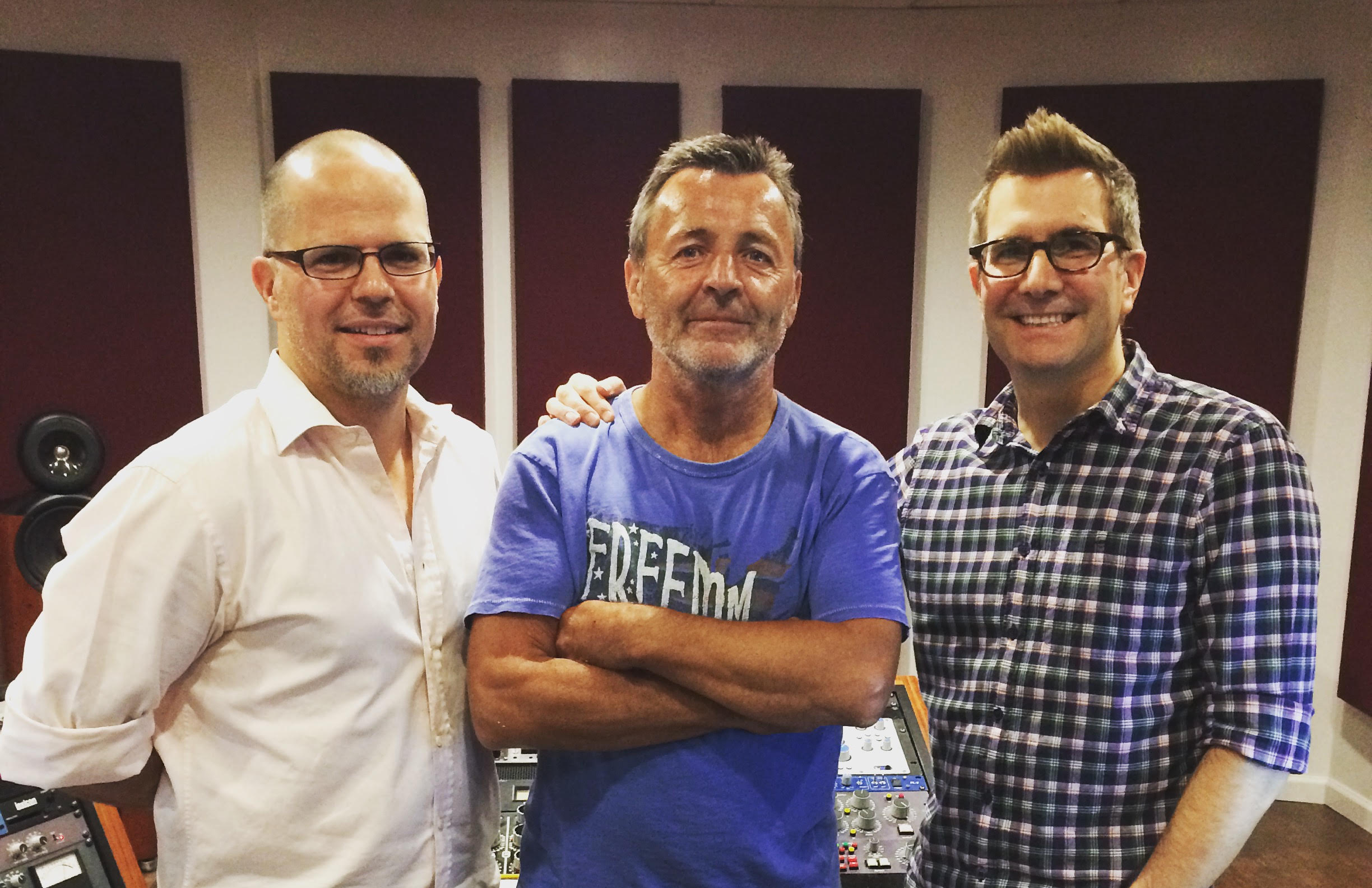 With Producer Glen Muñoz & Joe Lambert at JL Mastering