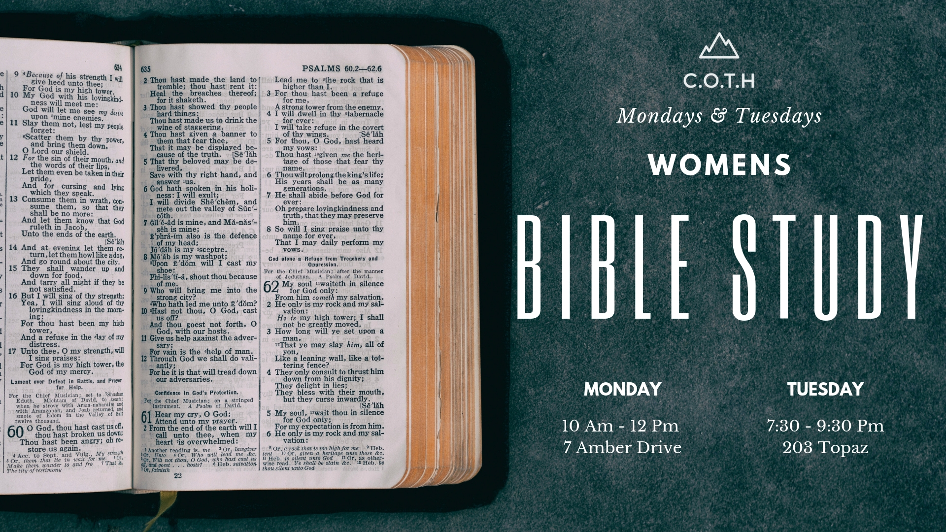 Women's Bible Study - Women Lifting up Women