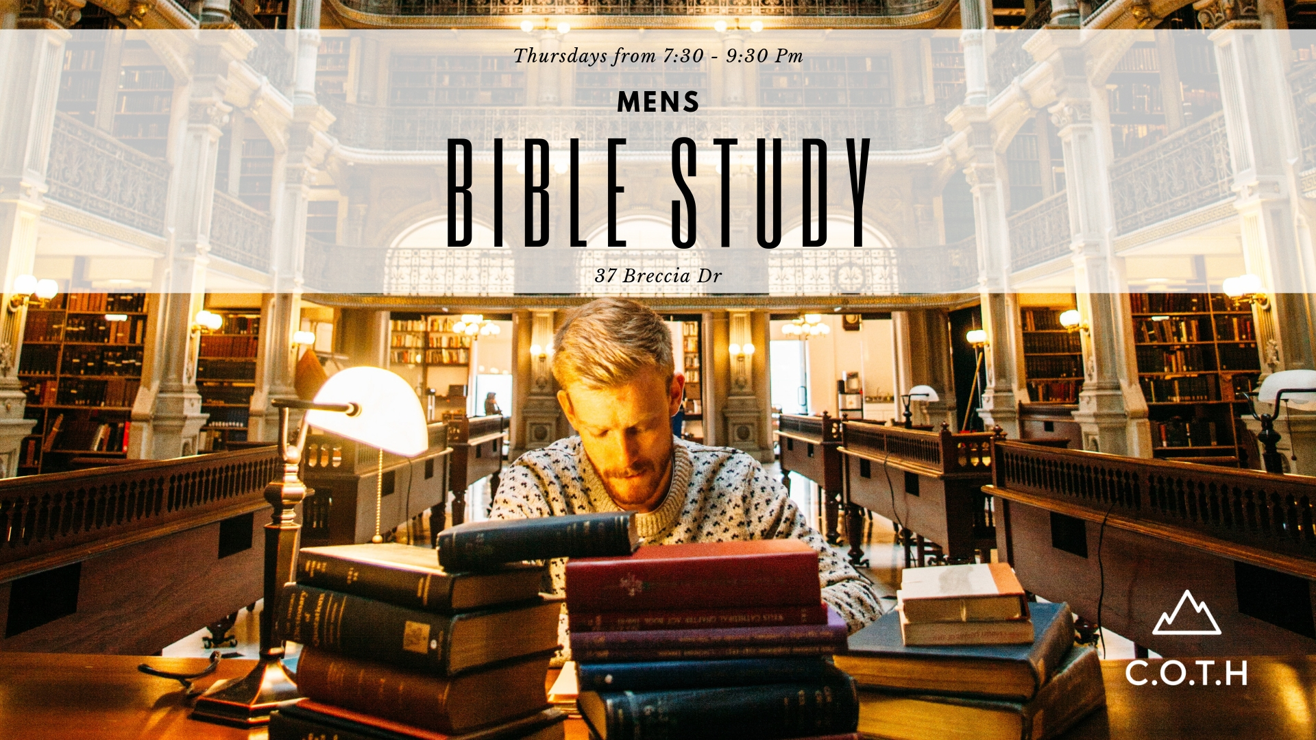 Men's bible study - Thursday from 7:30 - 9:30 Pm