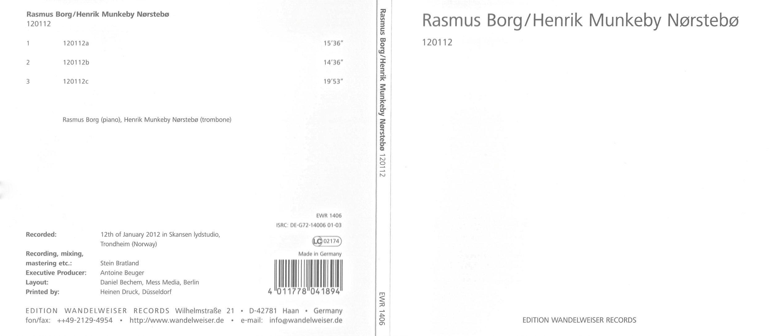 Rasmus Borg/Henrik Munkeby Nørstebø - 120112