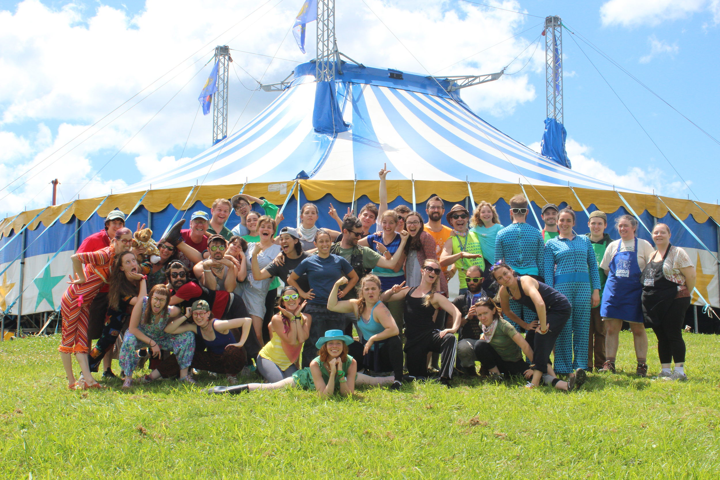 The wonderful staff at Circus Smirkus, Summer 2016.