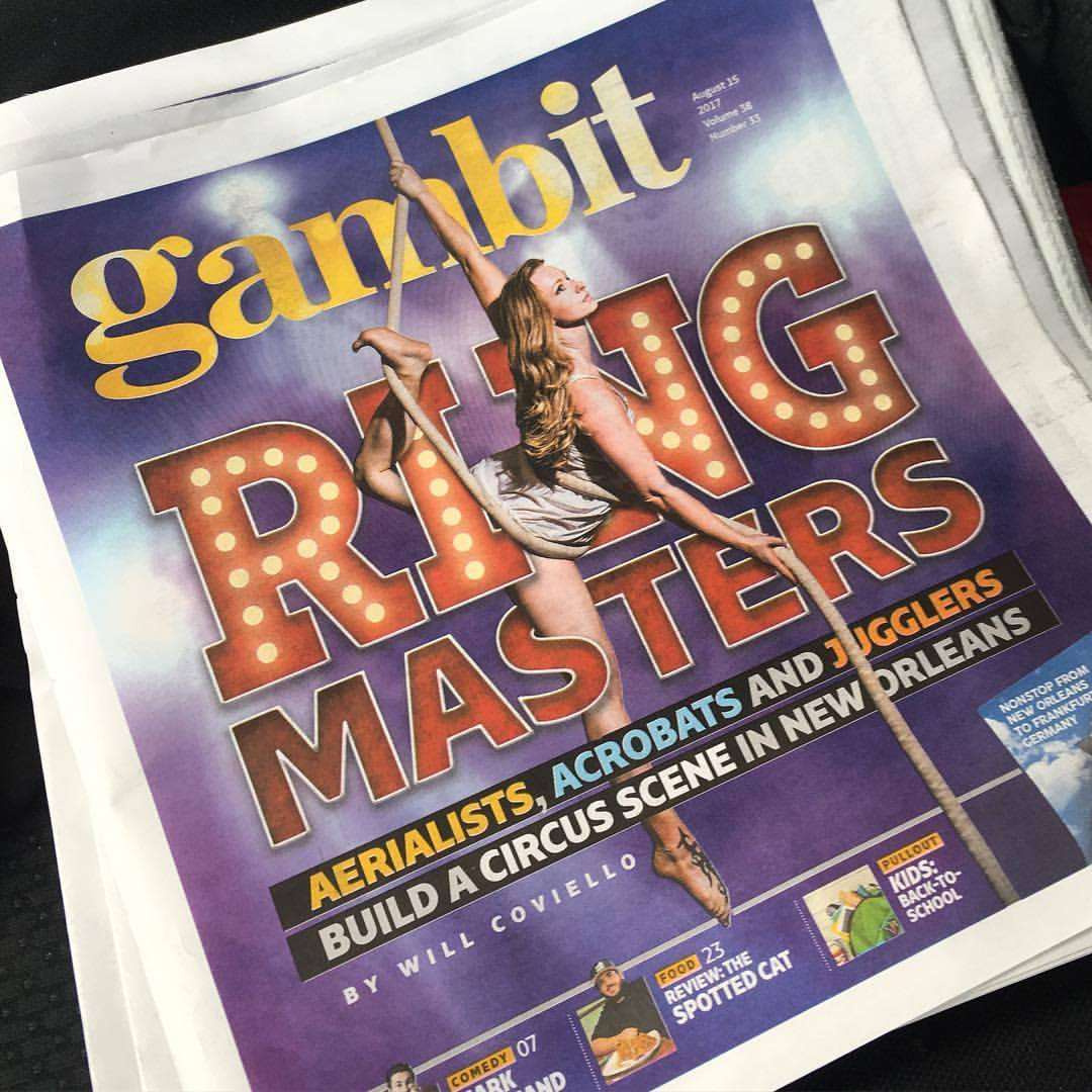 I made the cover of the Gambit Weekly!