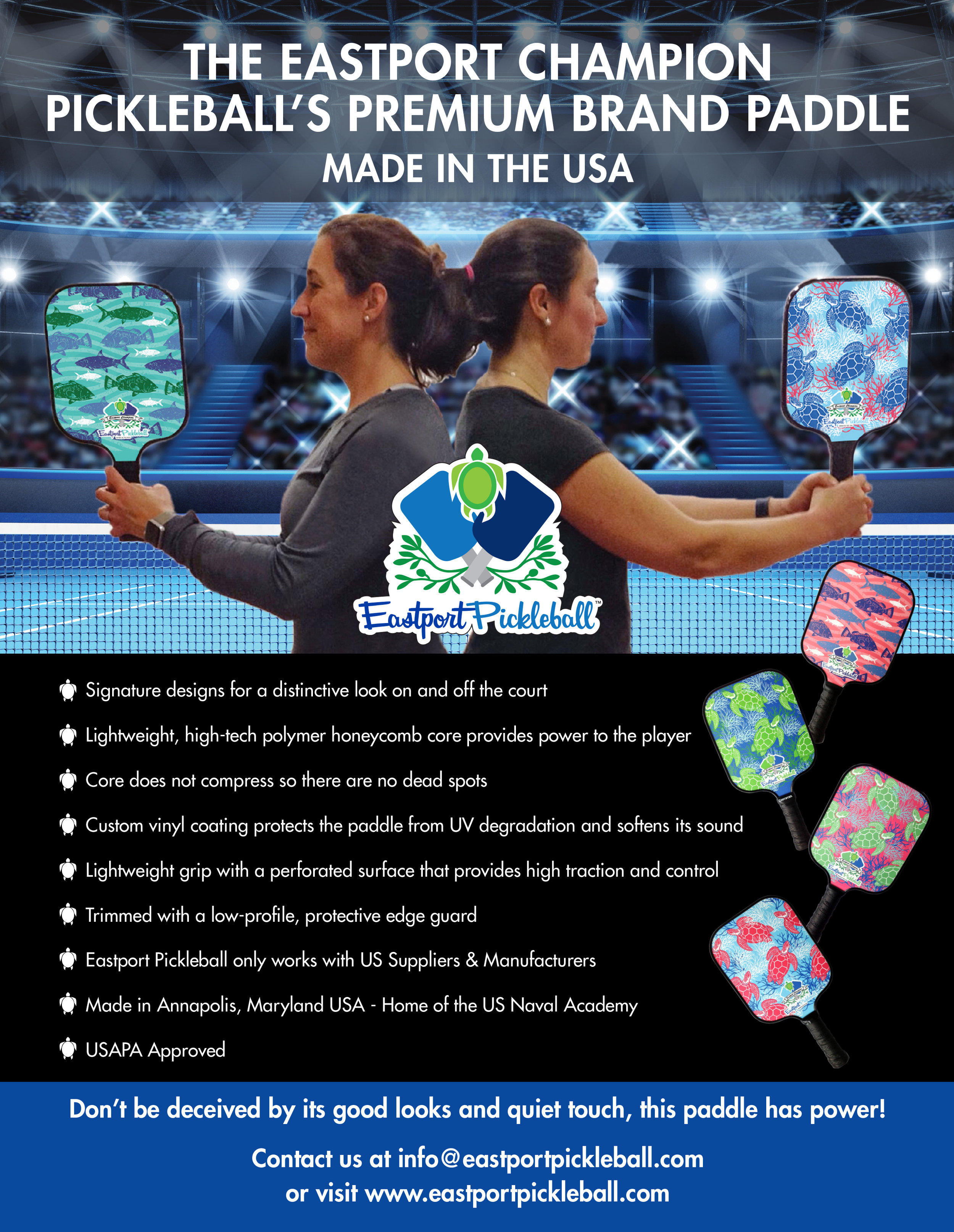 CLICK ABOVE TO READ THE ARTICLE ABOUT PICKLEBALL IN ANNAPOLIS !