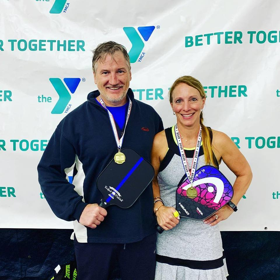 GOLD today in mixed for Kevin Cline with his stunning paddle and partner Erica. -