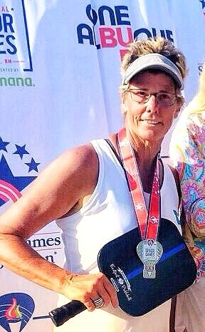 CONGRATS JAMIE FOR WINNING SILVER IN THE WOMEN'S SINGLES AT THE NATIONAL SENIOR GAMES IN ALBUQUERQUE JUNE 2019