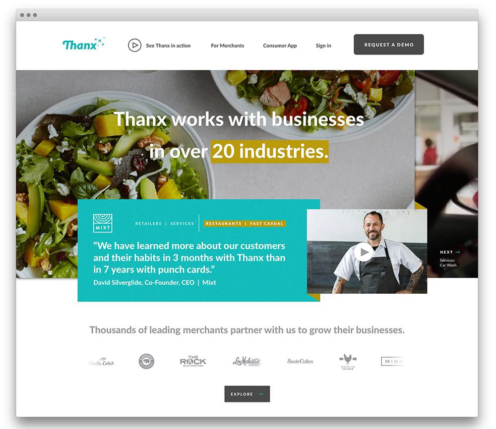 Homepage UX design