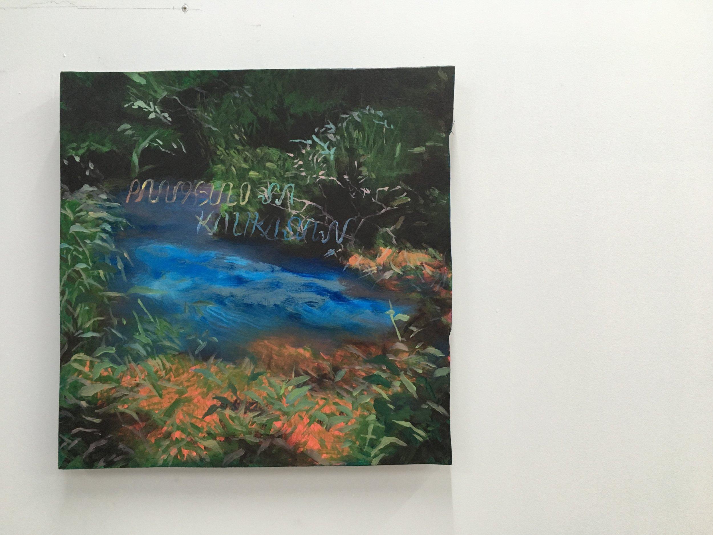 """PANGGULO SA KALIKASAN, 2018, oil, acrylic on wood 16"""" x 16"""