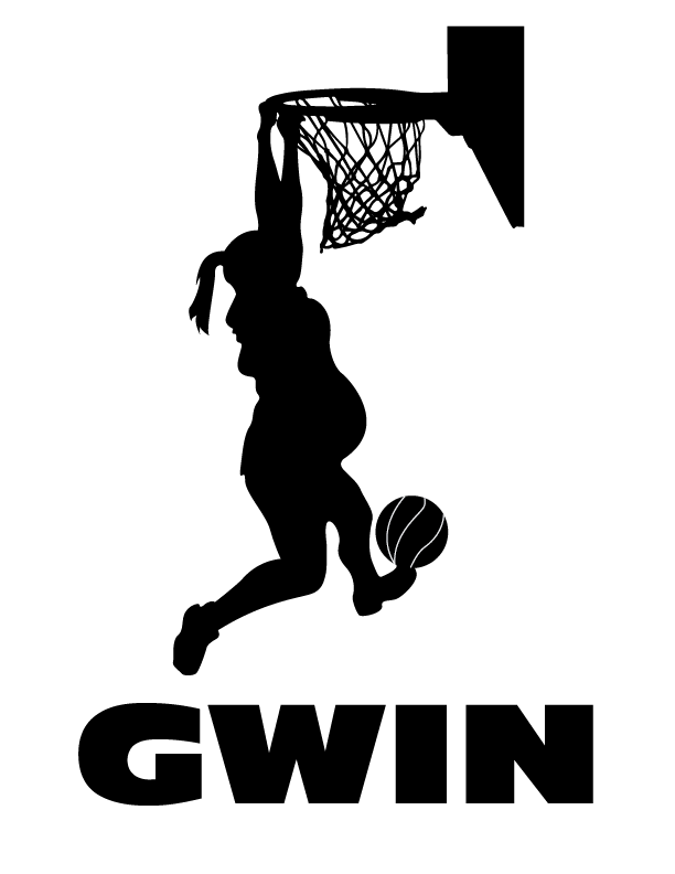 A quick and fun little graphic we designed for a pregnant friend dunking to try and induce birth.