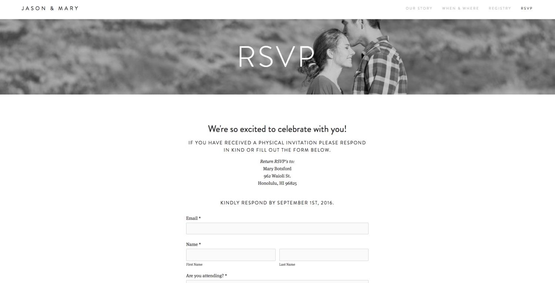 Online Wedding RSVP