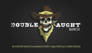 Business card designed for Double Aught Ranch by Patey Designs