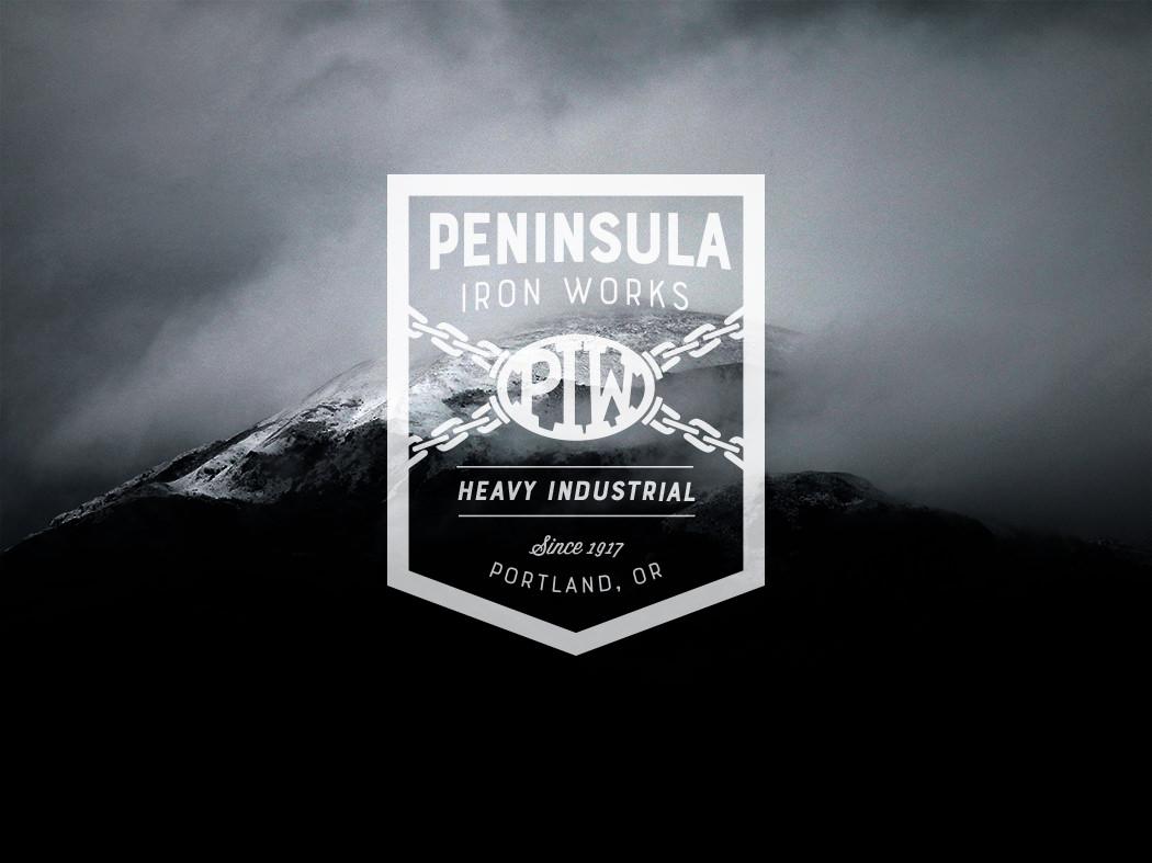 Peninsula Iron Works Logo Redesign by Patey Designs