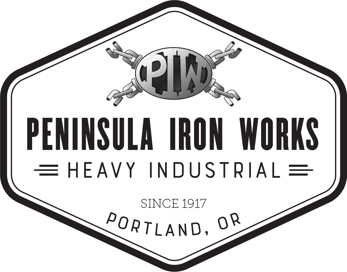 Simple badge logo with the PIW less prominent.