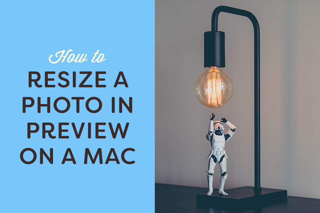 How to resize a photo in Preview on a Mac