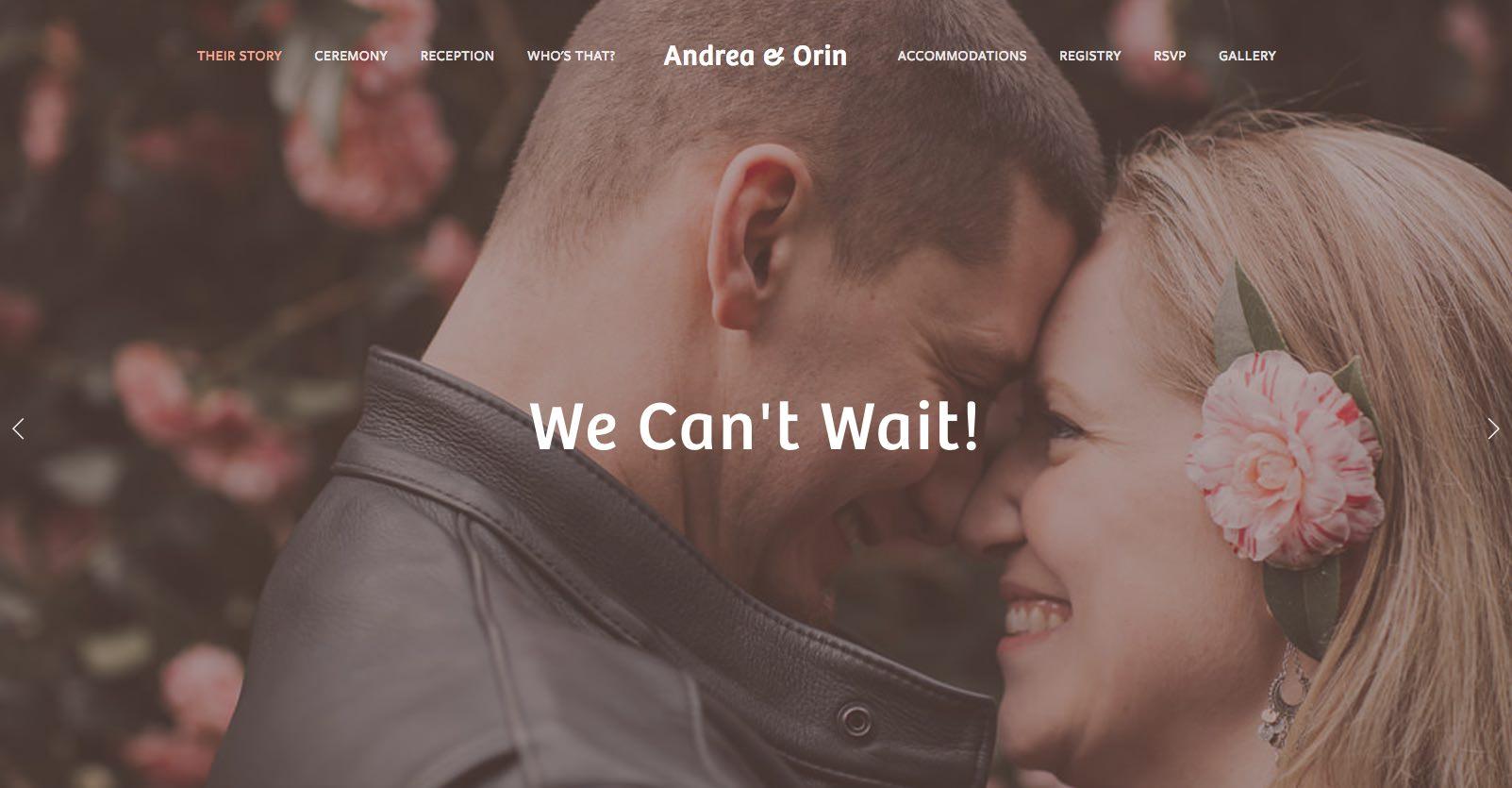 Andrea & Orin Wedding Website — Patey Designs   Purpose